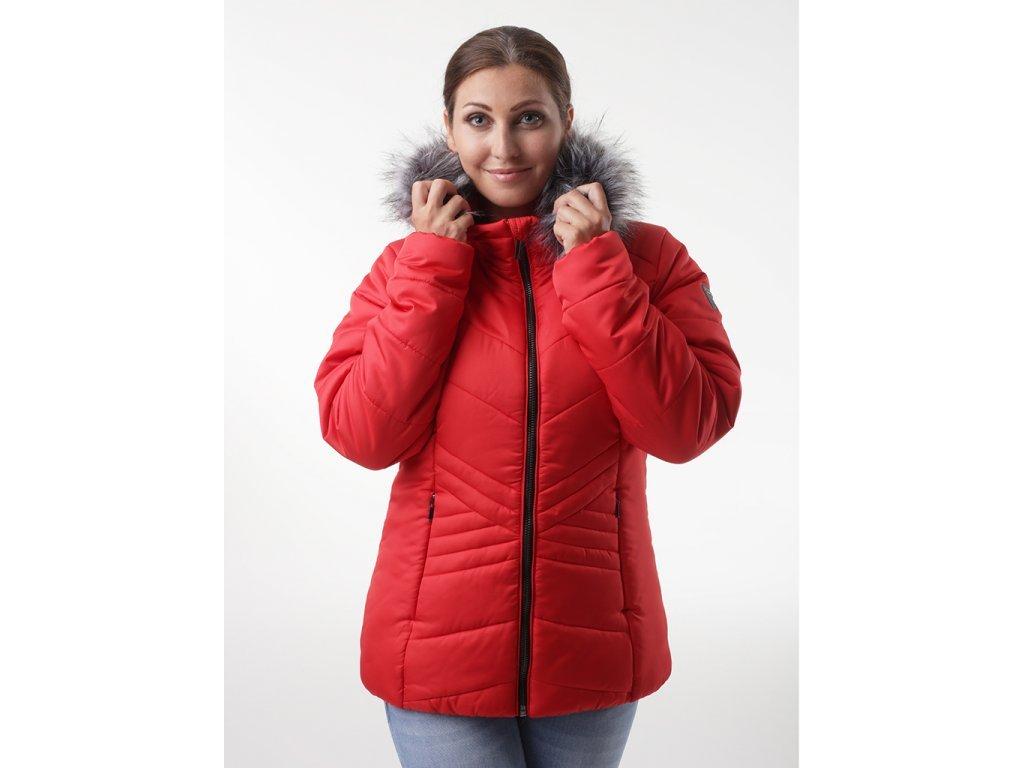 28295 loap tarra damska zimni bunda do mesta cervena clw20108g01g