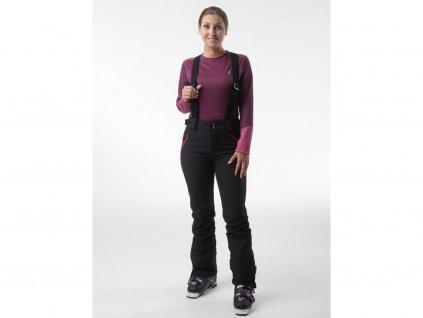 28694 loap lyssy damske softshell kalhoty cerna ruzova sfw2025v24j