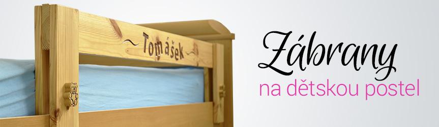 Zábrana na dětskou postel