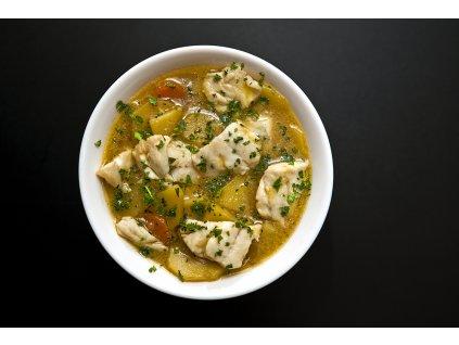 Bakalar tradiční rybí polévka s bramborem 2