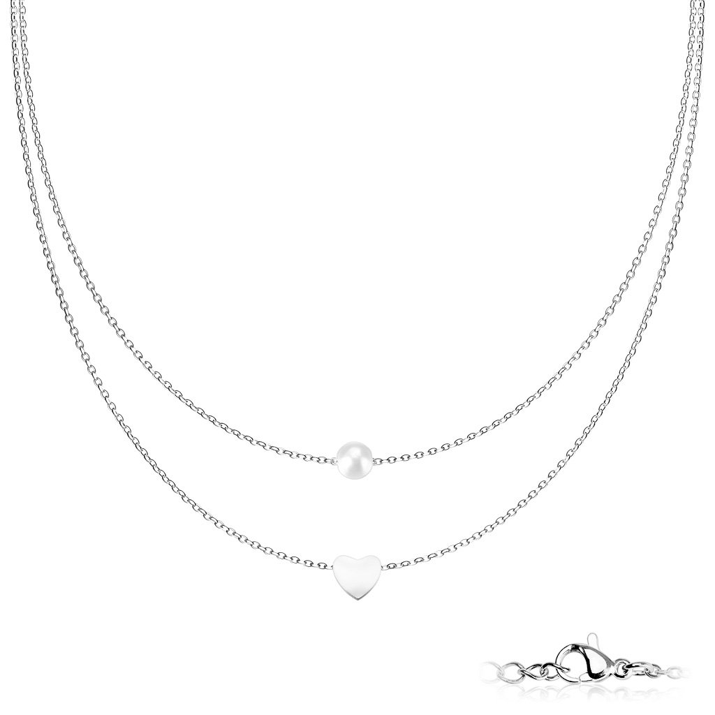 Dámsky náhrdelník z chirurgickej ocele ELISA 1
