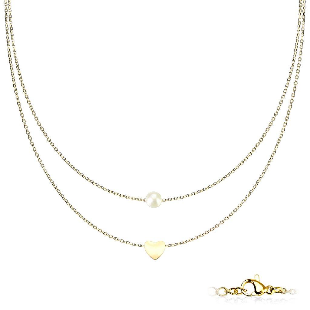 Dámsky náhrdelník z chirurgickej ocele HAZAL