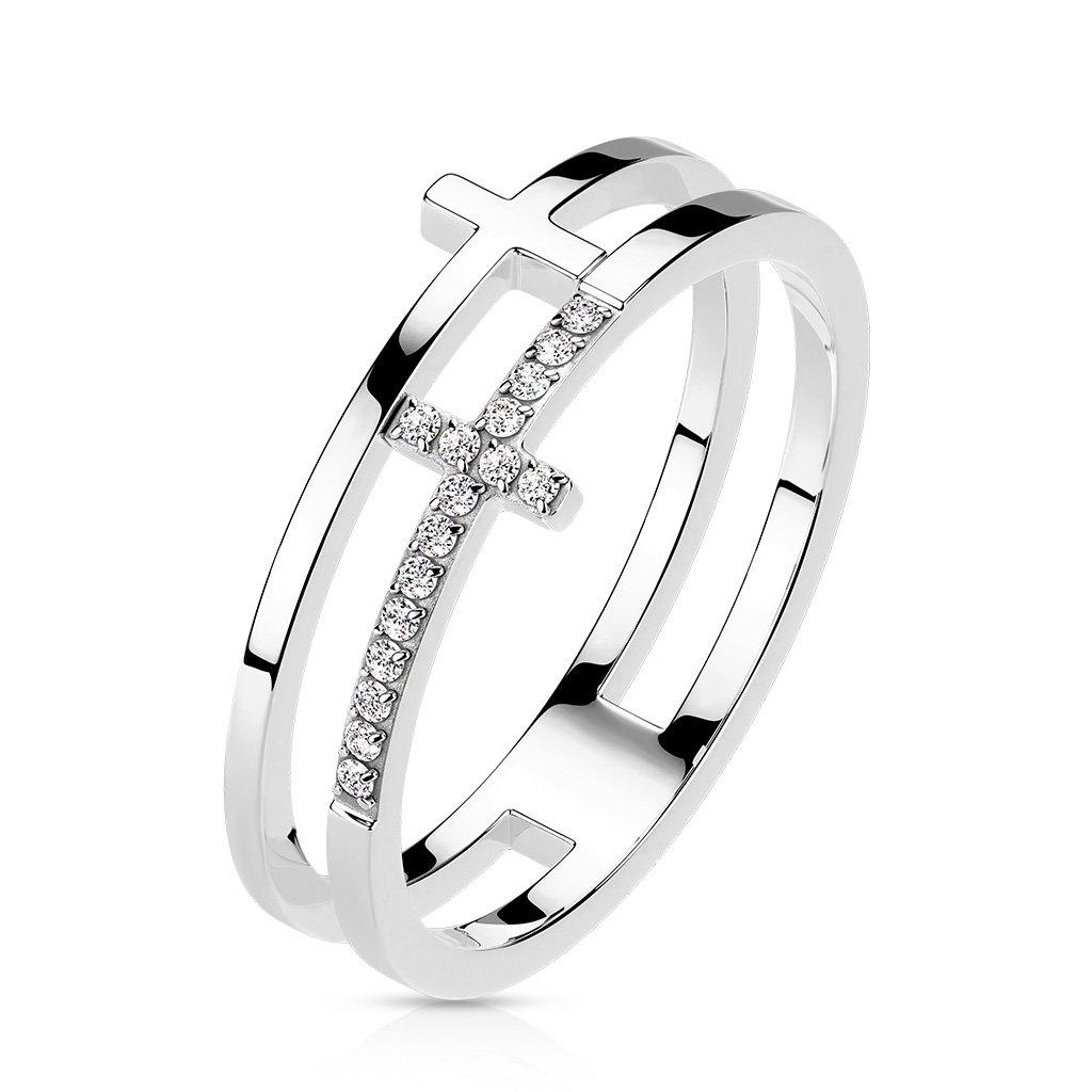 Dámsky prsteň z chirurgickej ocele JAZLYN 1