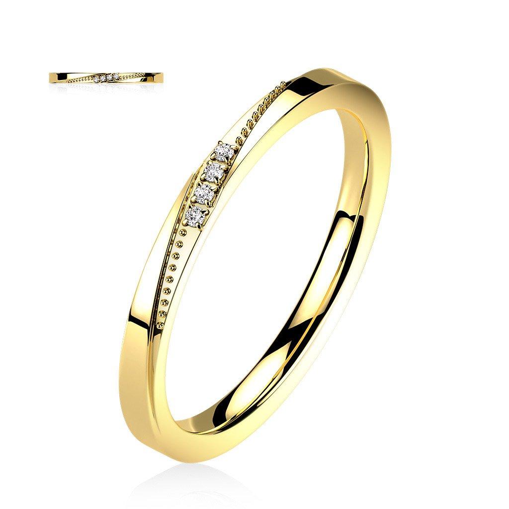 Dámsky prsteň z chirurgickej ocele NOOR 1