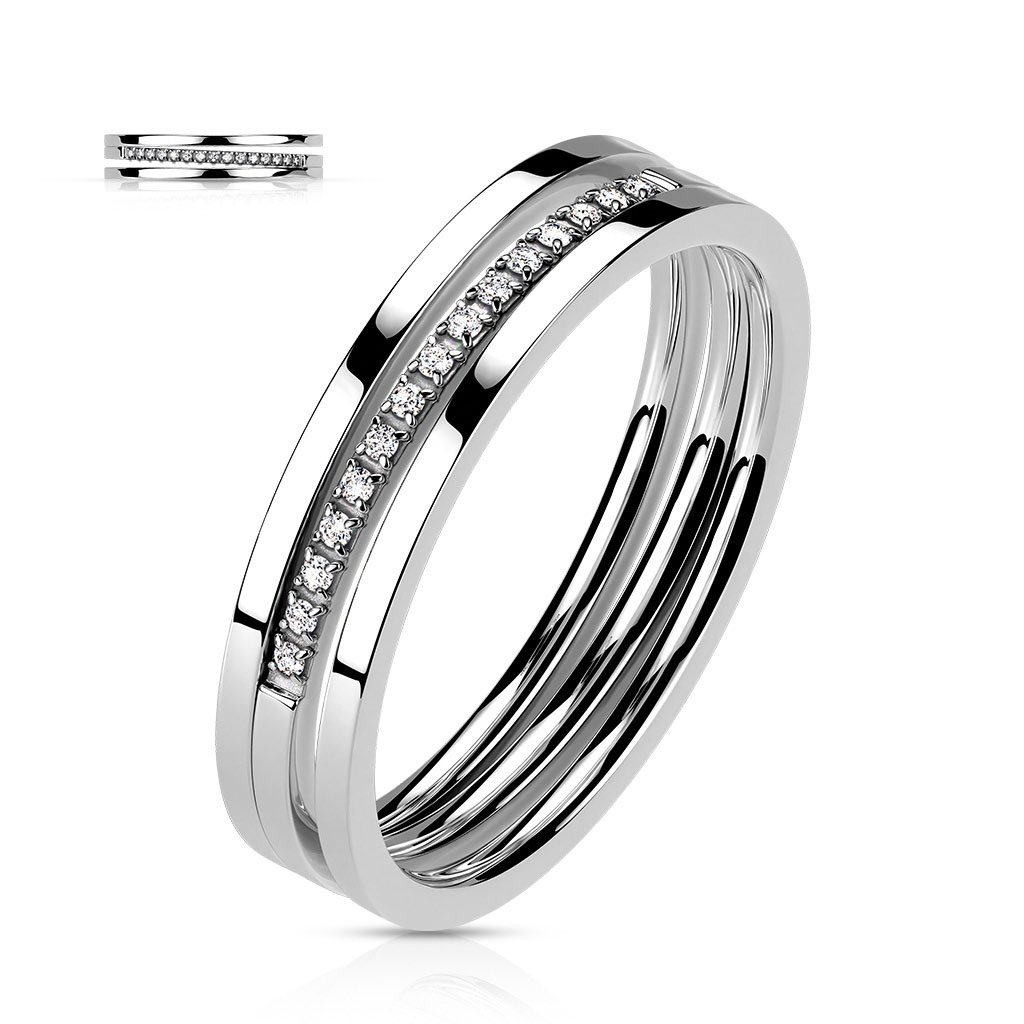 Dámsky prsteň z chirurgickej ocele PEGGY 1