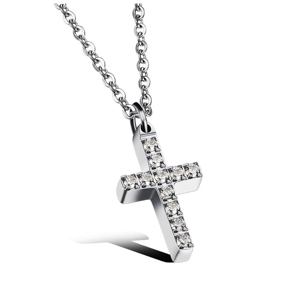 Dámsky náhrdelník z chirurgickej ocele CROSS 1