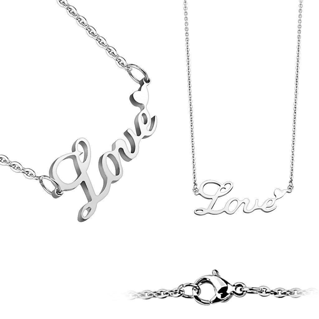 Dámsky náhrdelník z chirurgickej ocele LOVE 1