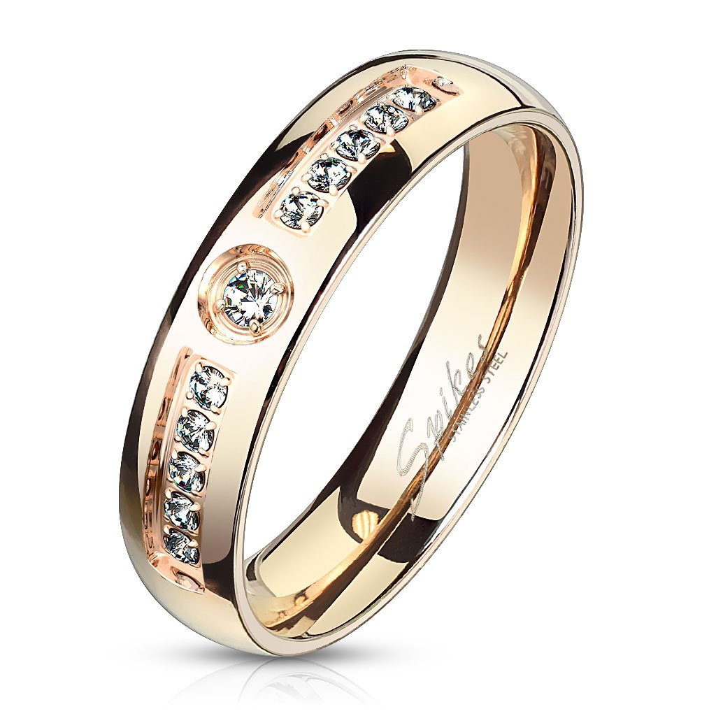 Dámsky prsteň z chirurgickej ocele ELLIE 1