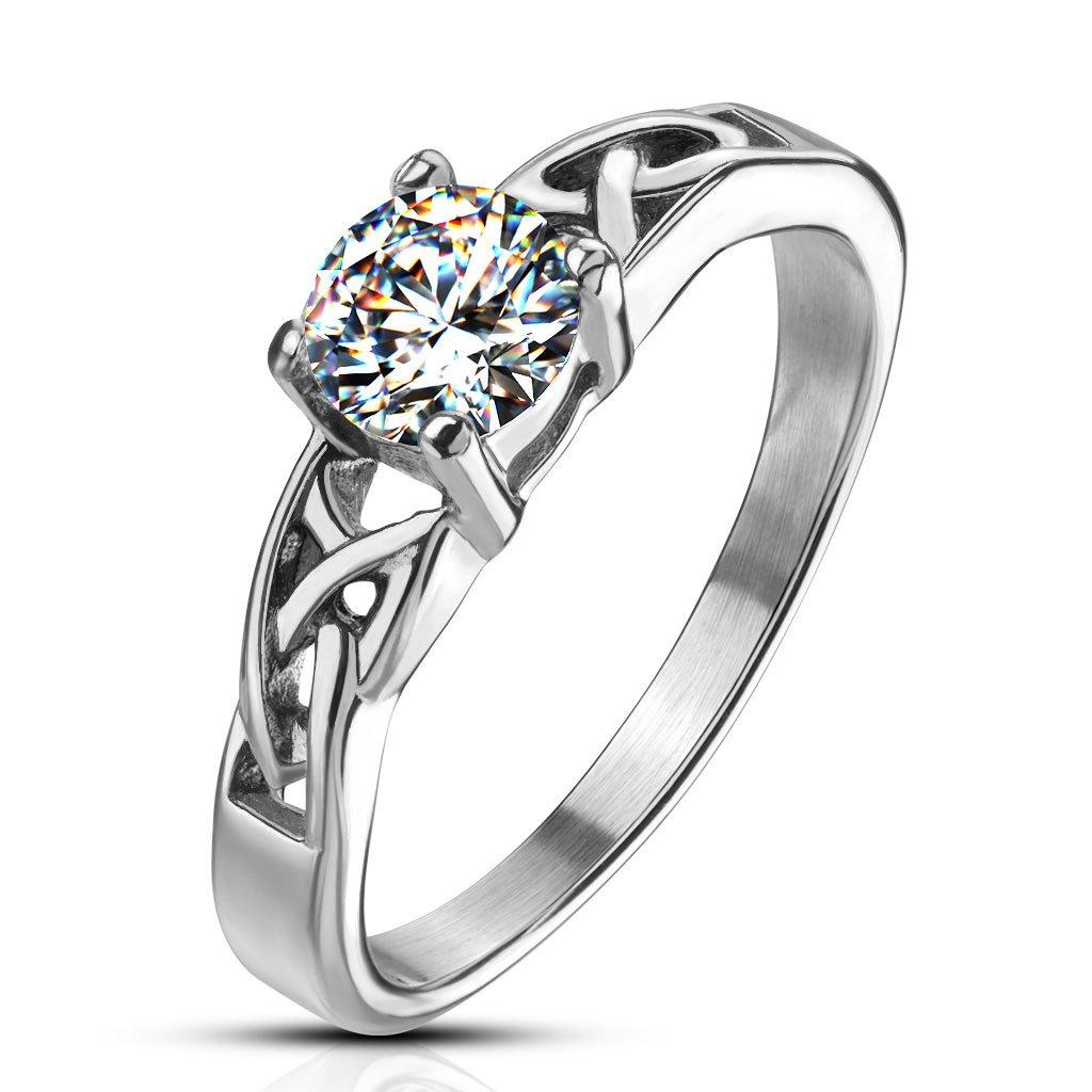 Dámsky prsteň z chirurgickej ocele IRIS 1