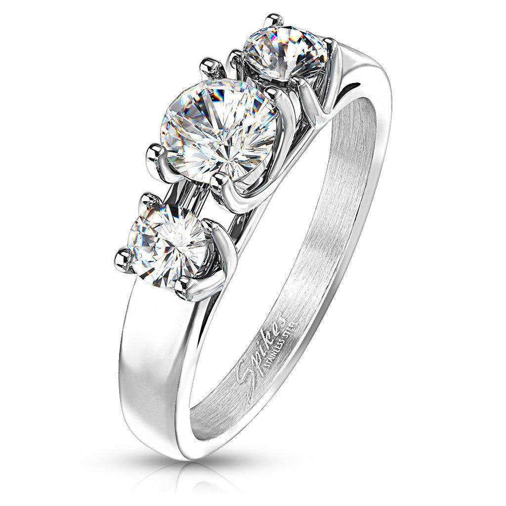 Dámsky prsteň z chirurgickej ocele SIMONE 1