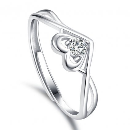 Dámsky stieborný prsteň DAVINA 1