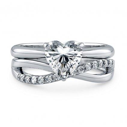 Set dámskych strieborných prsteňov ADELLE 1