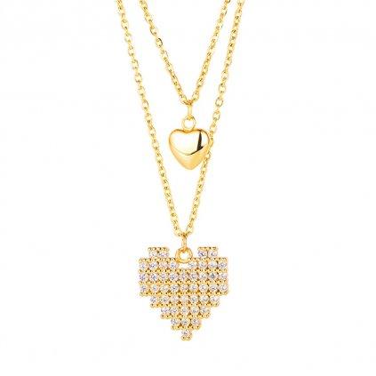 Dámsky náhrdelník z chirurgickej ocele ASHLEY 1
