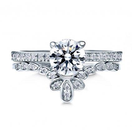Set dámskych strieborných prsteňov ABRILL 1