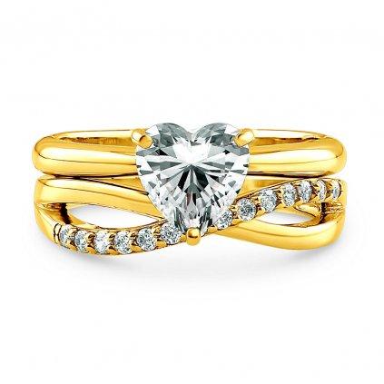 Set dámskych strieborných prsteňov CARA 1