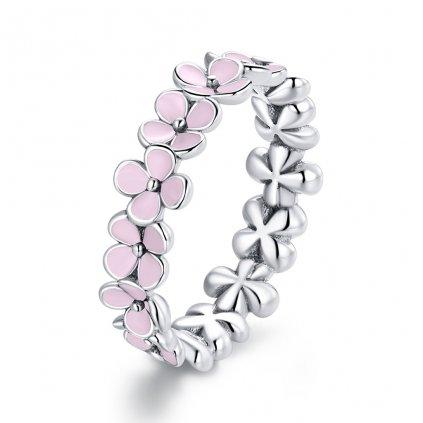Dámsky strieborný prsteň PINK 1