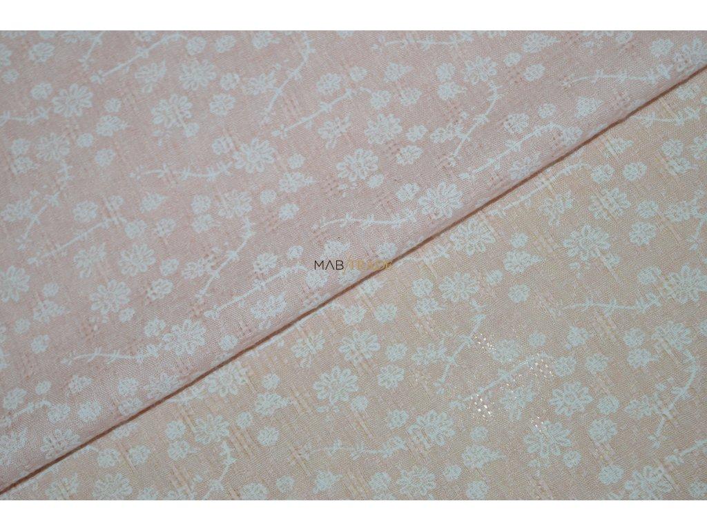 ŠATOVKA Bílé kytičky na Meruňkové Kód 8907-8829