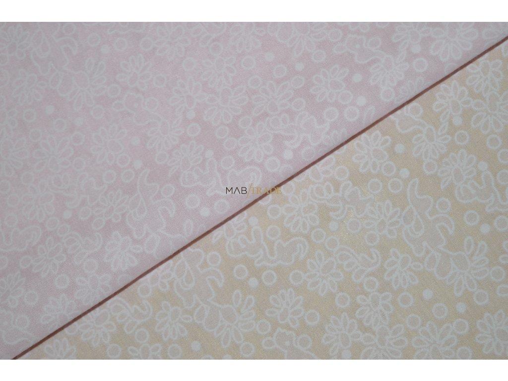 ŠATOVKA Kytičky na světle růžové Kód 8902-884