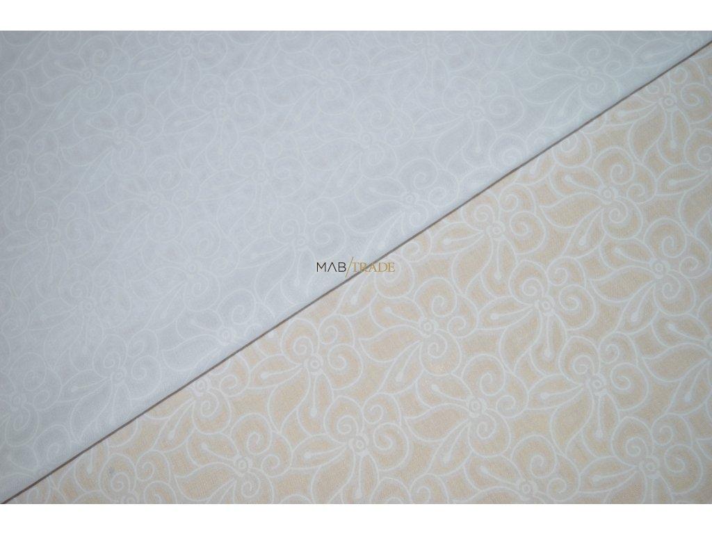 ŠATOVKA Kytičky na bílé Kód 8902-881