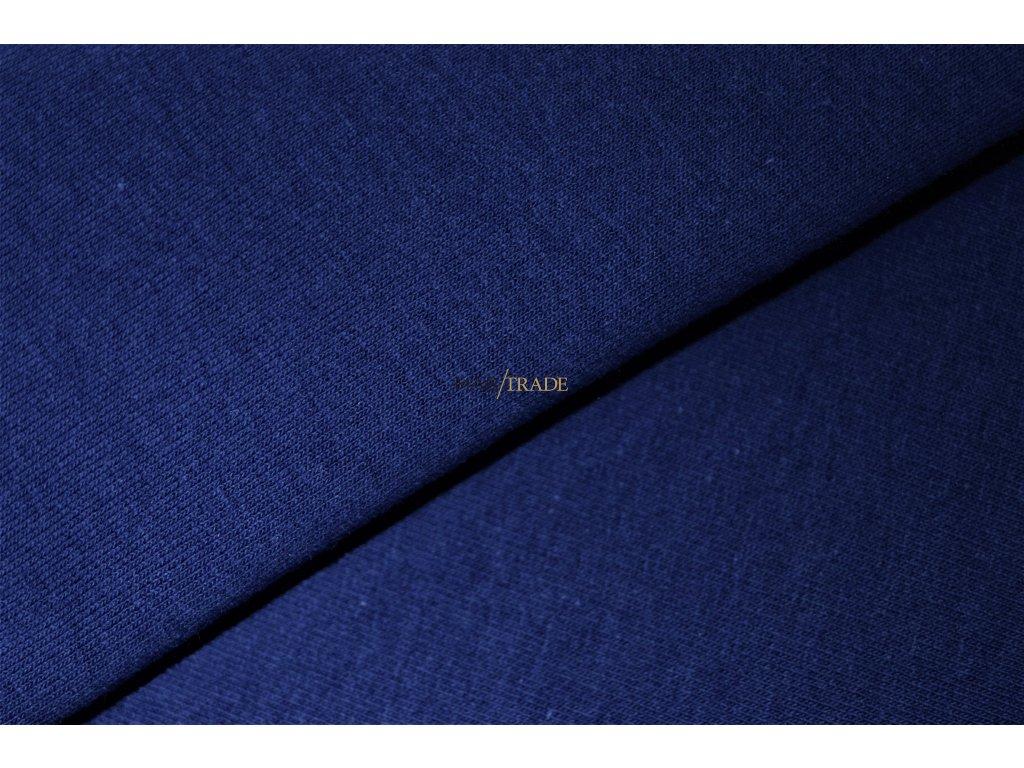 Teplákovina 100% Ba odlehčená Královská modrá Kód 4214-1902
