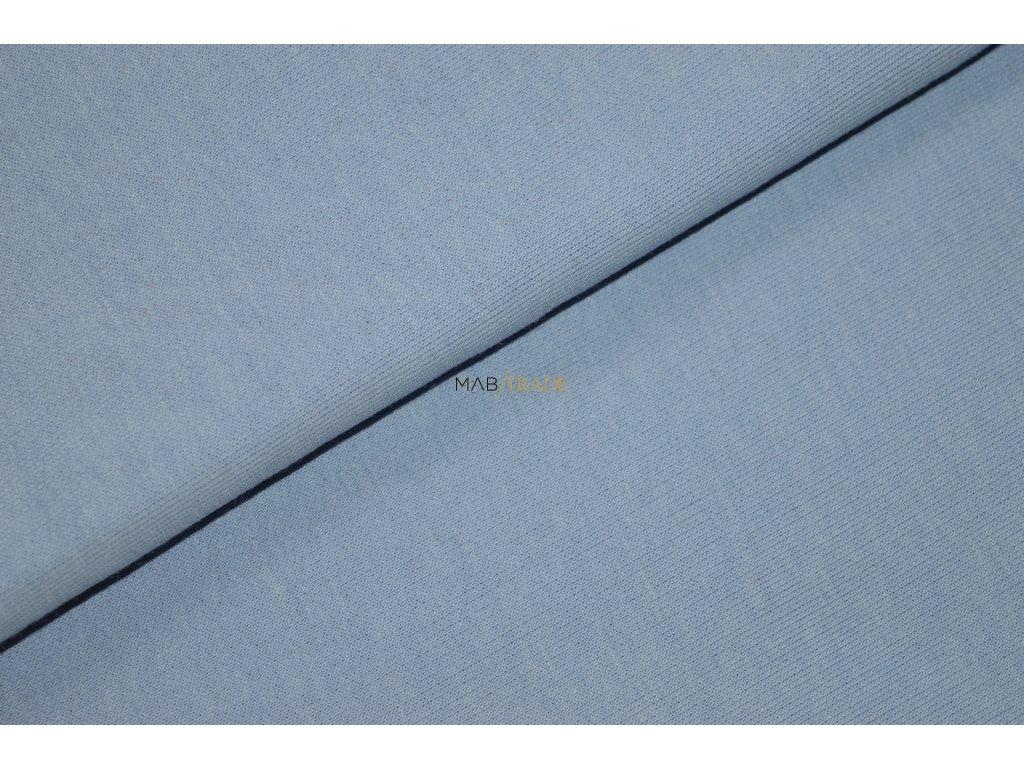 Teplákovina Ba/Pes počesaná světle Modrá Kód 4220-181144