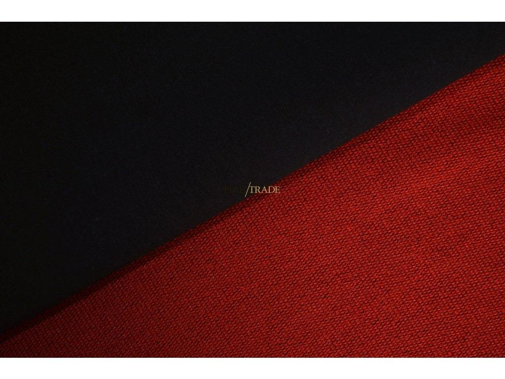 Elastická teplákovina s polyesterem Vínová Kód 4276/2187/Č