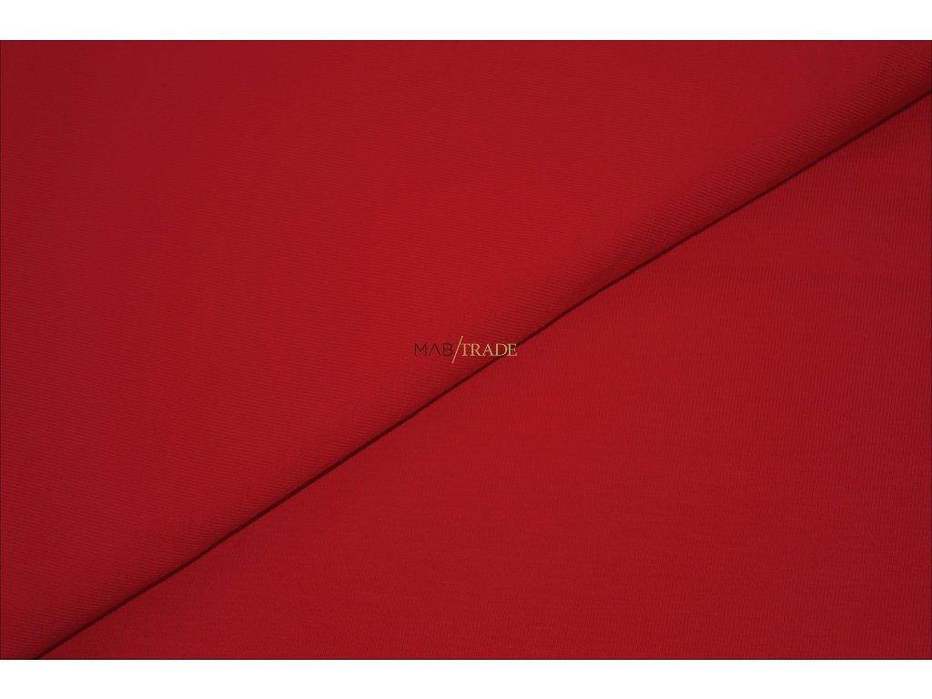 Bavlněný úplet - elastický jednolíc fitness Červená Kód 2906-1102