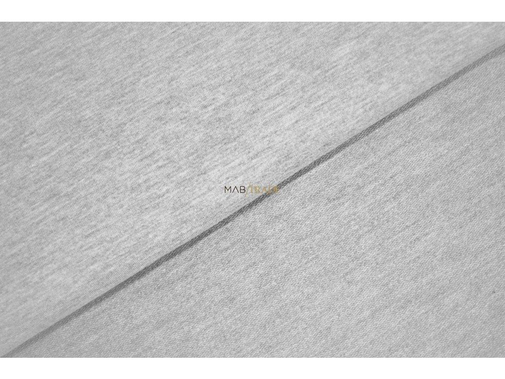 Elastická teplákovina Světle šedý melír Kód 4216-5004