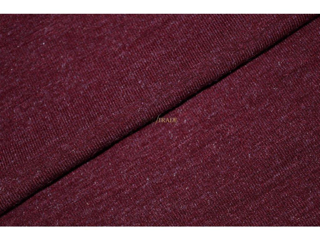 Viskózový úplet Angora Vínová  Kód 9112-1006