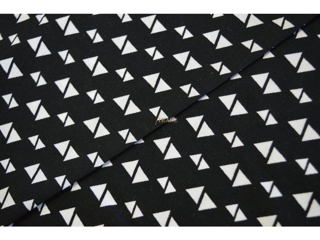VISKÓZA Bílé trojúhelníčky na černé Kód 3706-1000