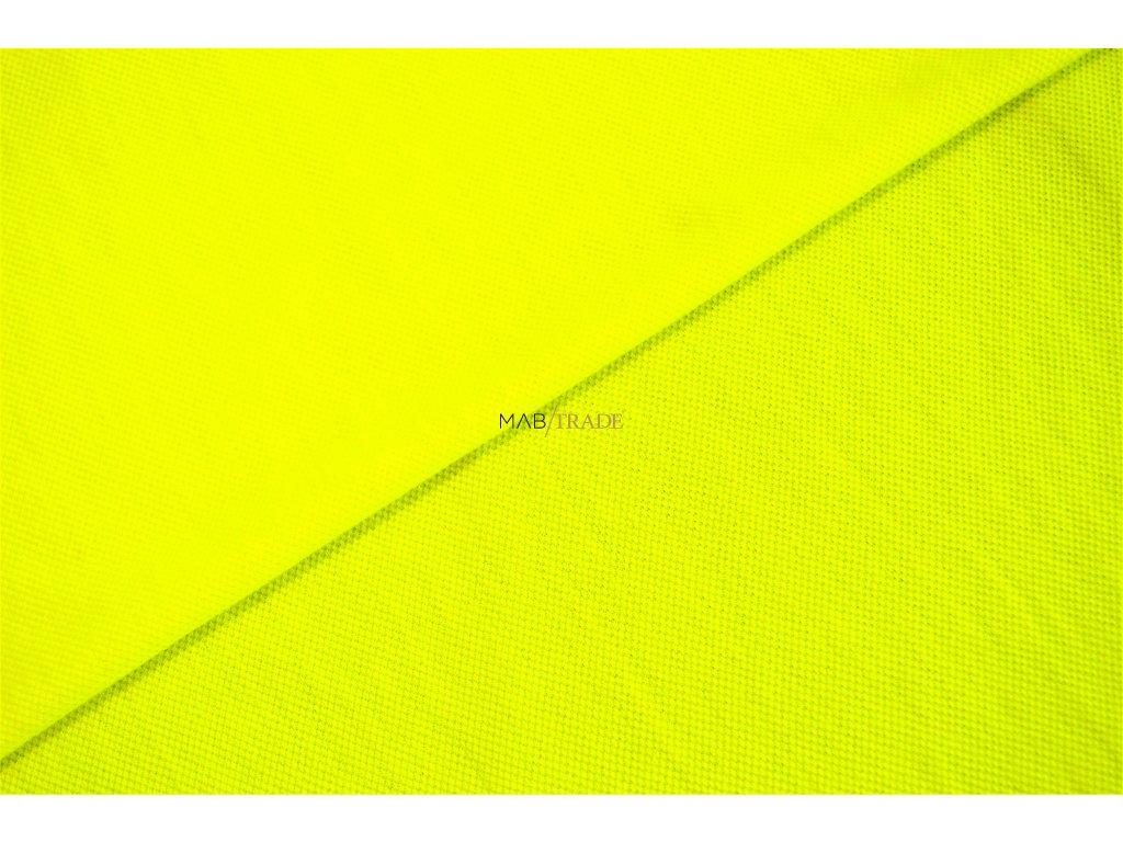 Polyesterový úplet - Piké 100% Pes reflexní Žlutá Kód 5500-051369