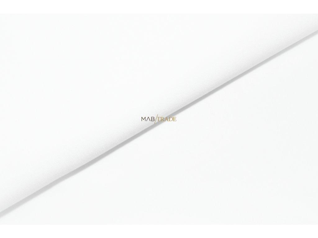 Bavlněný úplet - elastický jednolíc fitness Bílá Kód 2906-0101