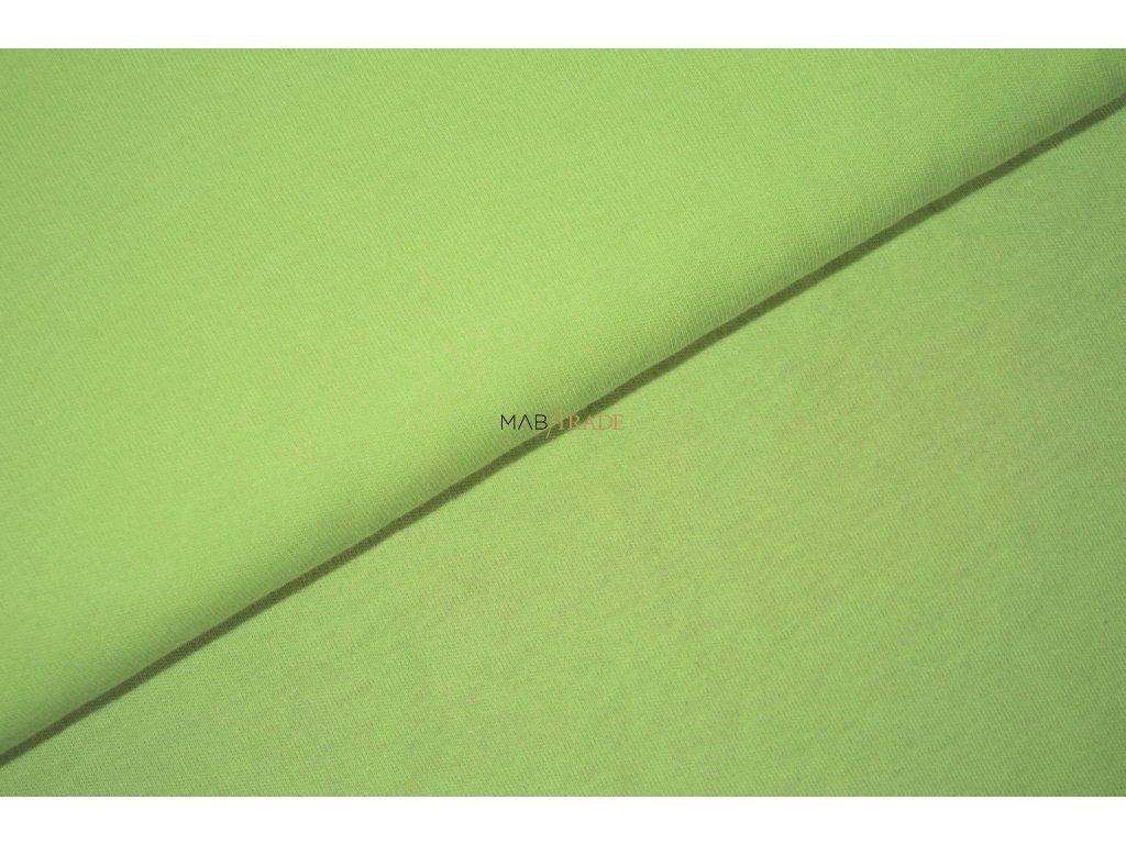 Bavlněný úplet - oboulícní  100% Ba světle Zelená Kód 1200-1302