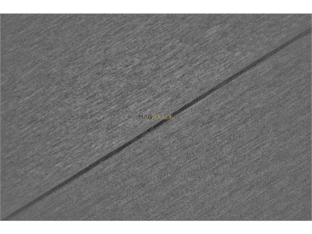 Elastická teplákovina Tmavě šedý melír Kód 4216-5006