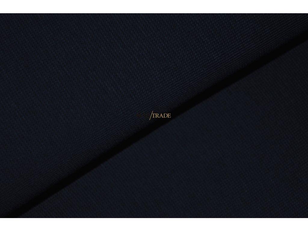 Bavlněný úplet - RIB 1x1 hladký Tmavě modrá Kód 6201-2003
