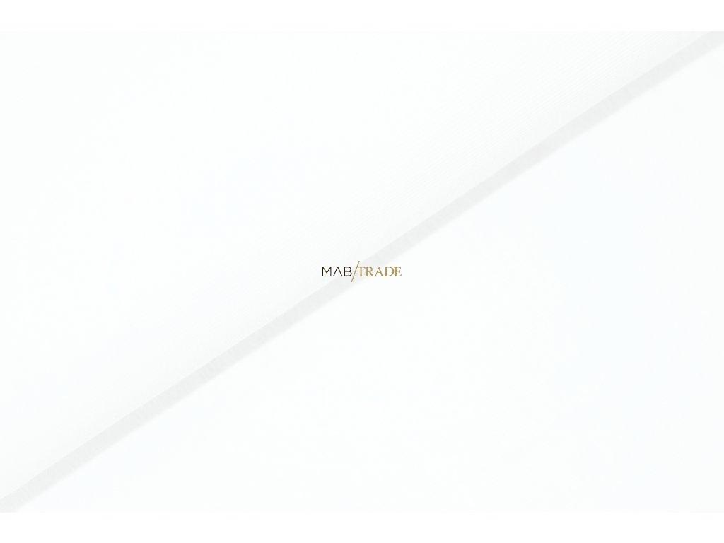 Bavlněný úplet - elastický jednolícní  HEAVY Bílá Kód 2908-0101