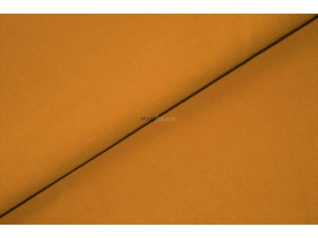 Elastická teplákovina Hořčicová Kód 4216-0546