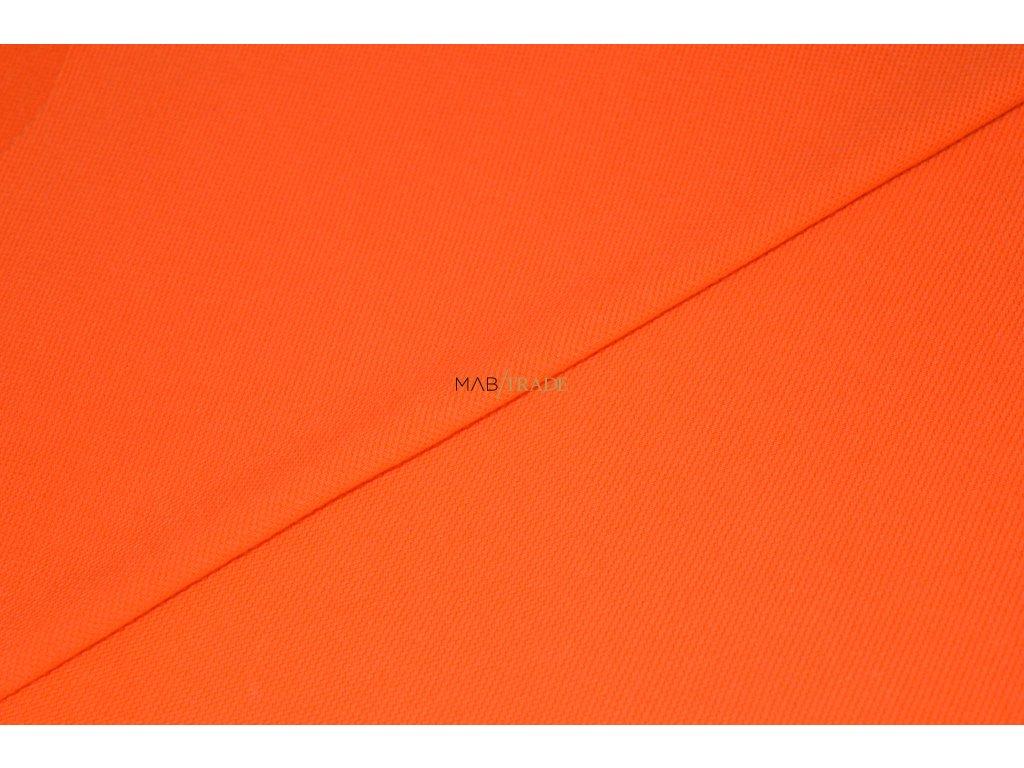 Bavlněný úplet - Piké 100% Ba Oranžová Kód 5200-0601