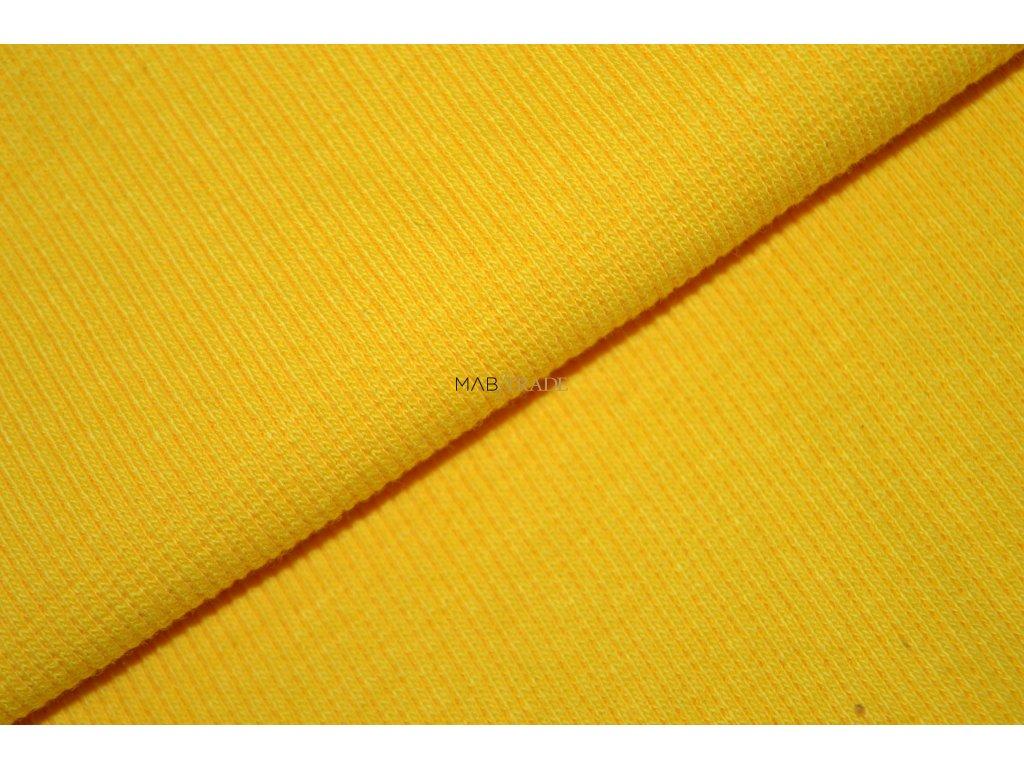 Bavlněný úplet - RIB 2x1 slabý  Žlutý  Kód 6211-0503