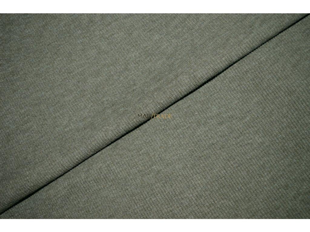 Bavlněný úplet - RIB 2x1 slabý sv. Olivový Kód 6211-5102