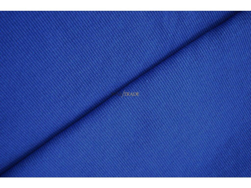 Bavlněný úplet - RIB 2x1 slabý královsky Modrý Kód 6211-1902