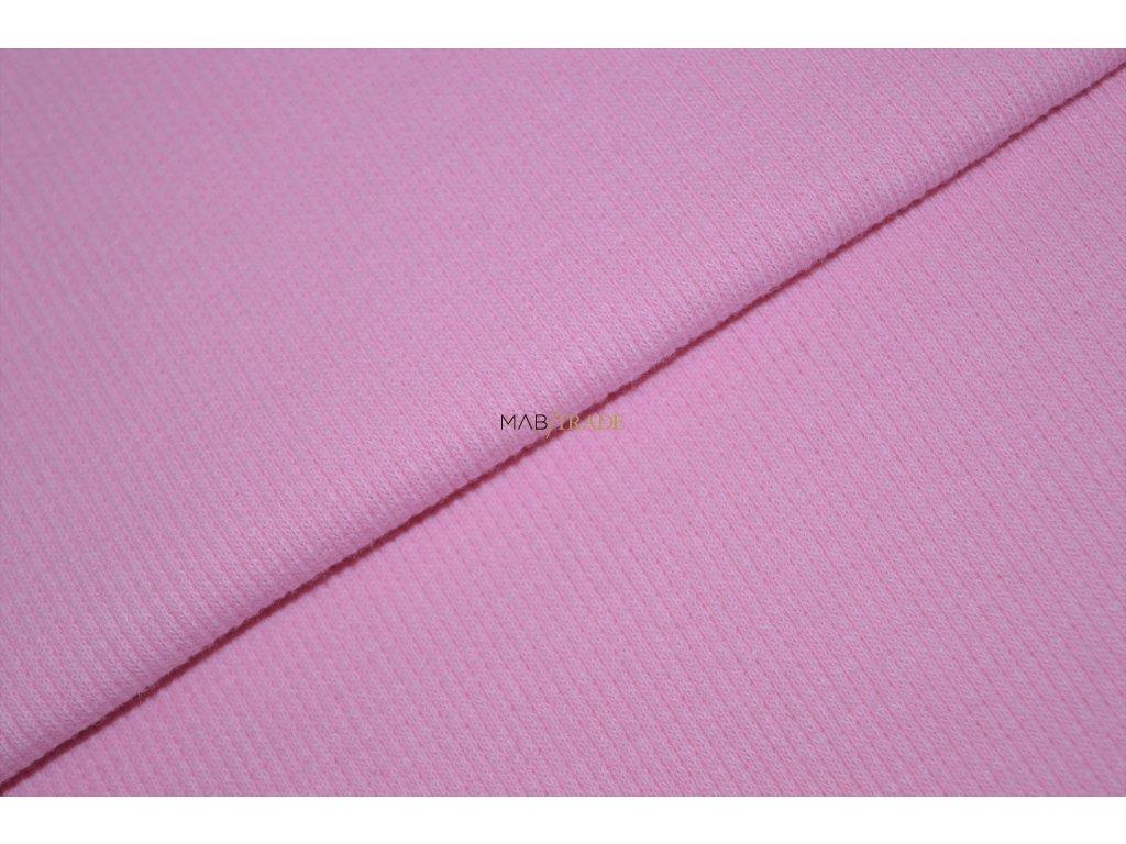 Bavlněný úplet - RIB 2x1 slabý Růžový Kód 6211-0902
