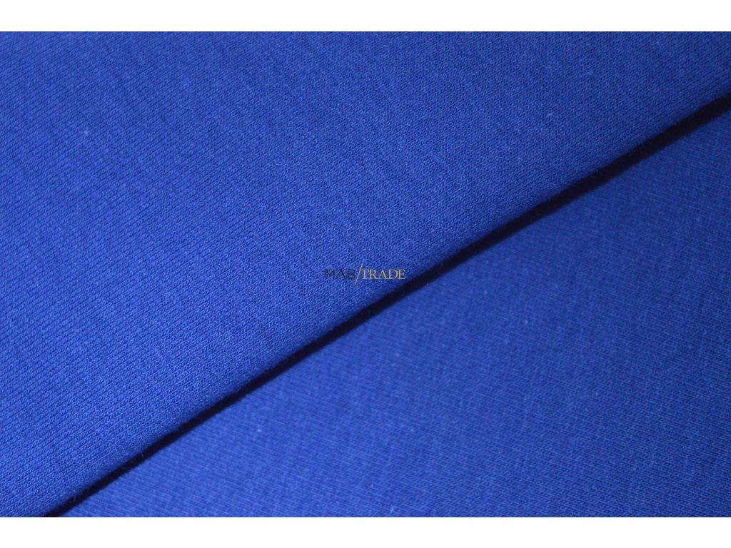 Elastická teplákovina s polyesterem námořní Modrá Kód 4276-19855