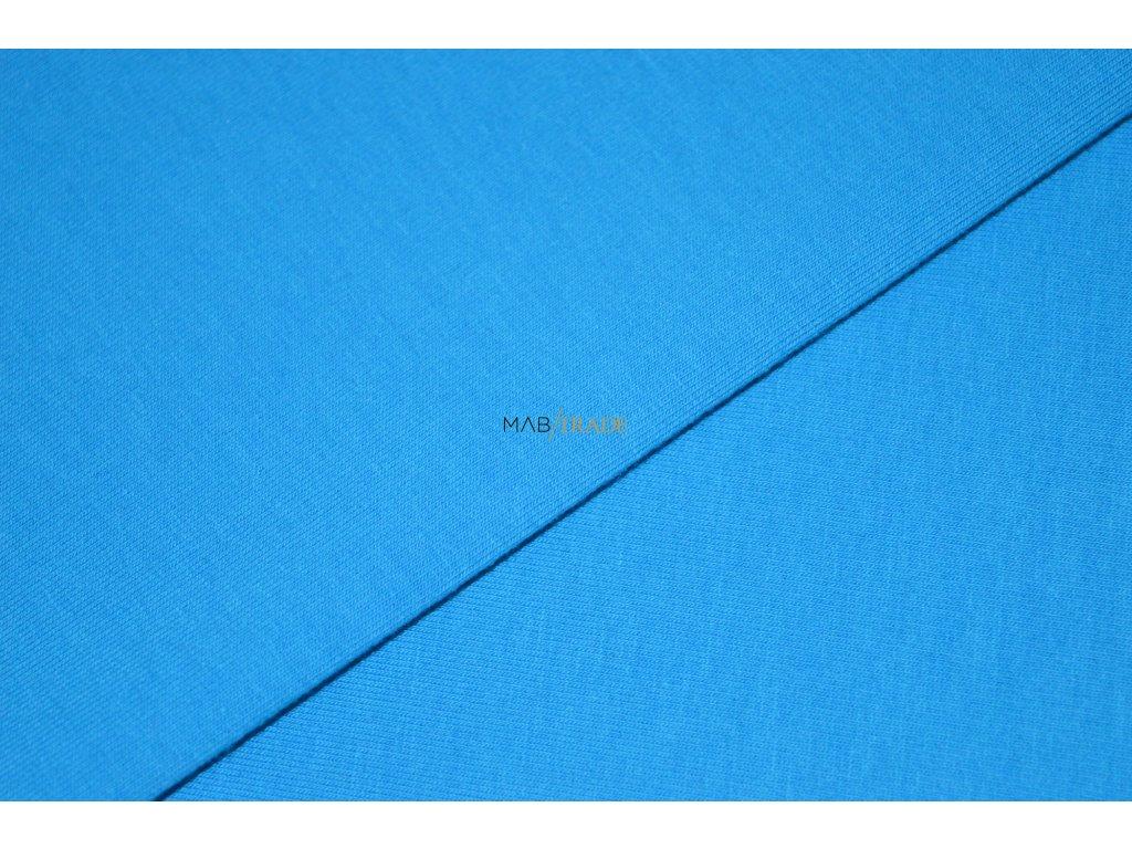 Elastická teplákovina s polyesterem tmavý Tyrkys Kód 4276-21066