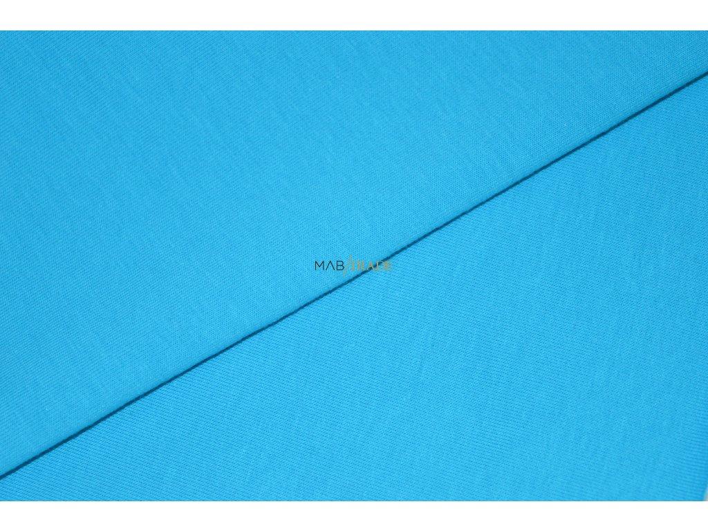 Elastická teplákovina s polyesterem Tyrkys Kód 4277-21898