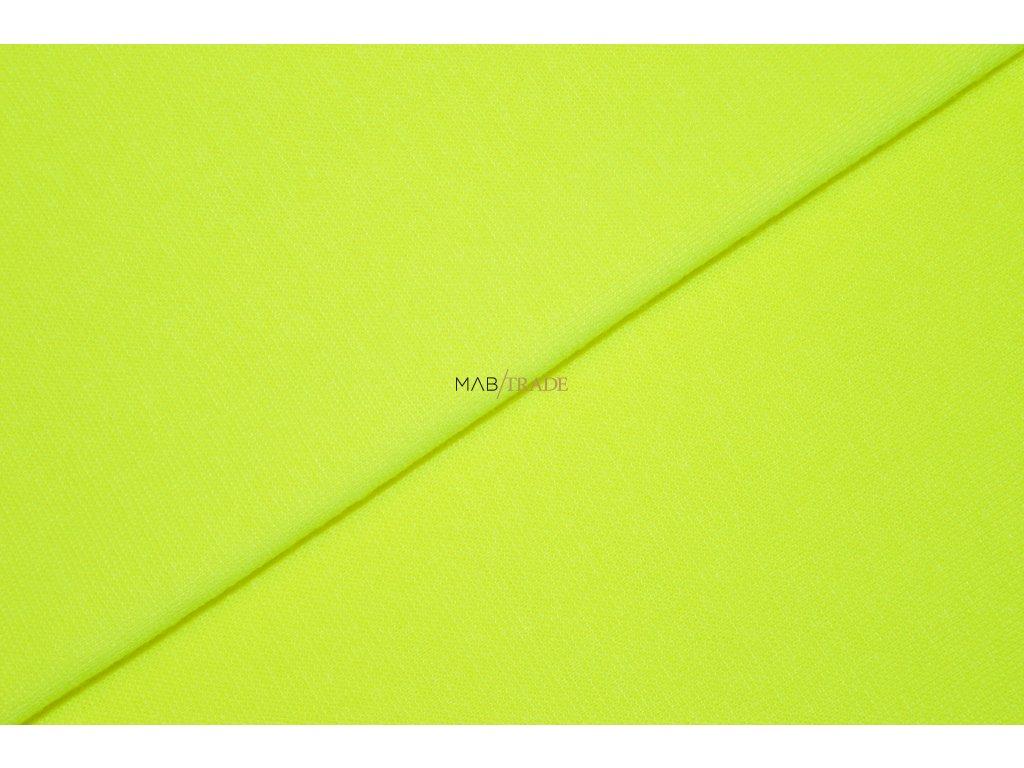 Bavlněný úplet - RIB 1x1x hladký Neon Žlulý Kód 6201-051298