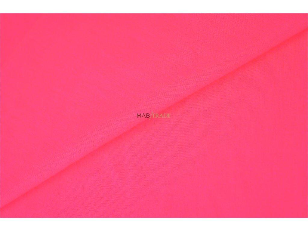 RIB 1x1 hladký Neon Růžový Kód 6201-091528