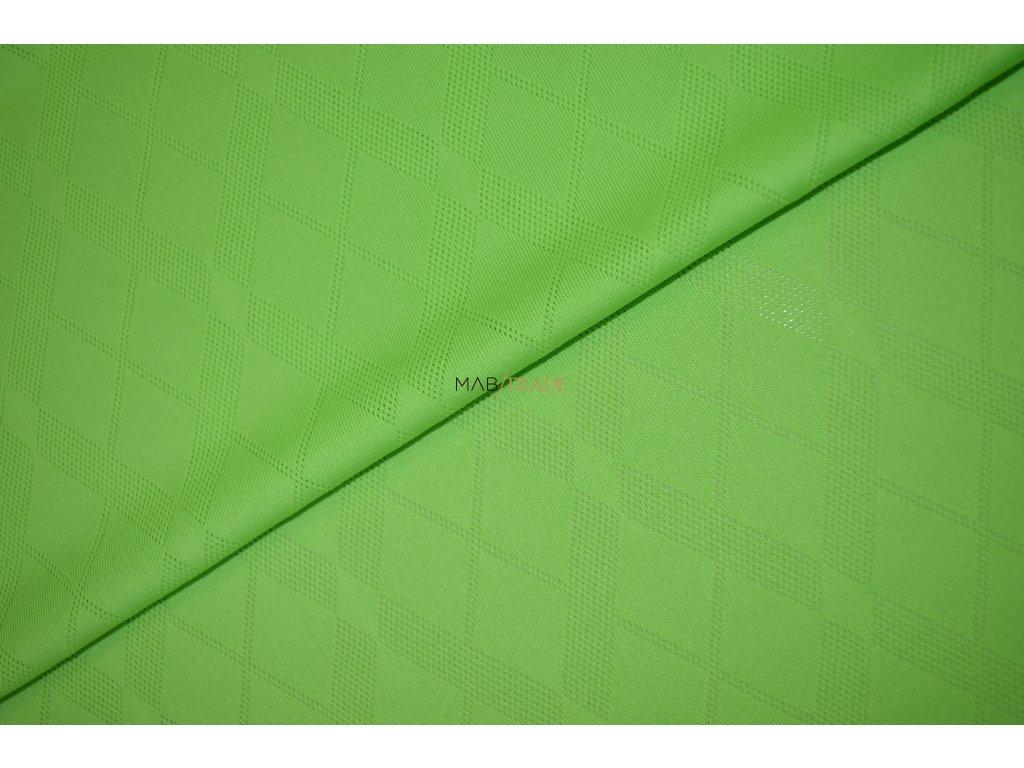 TRIČKOVINA MIKROPOLYESTER KÁRO zelená Kód 5042-2587