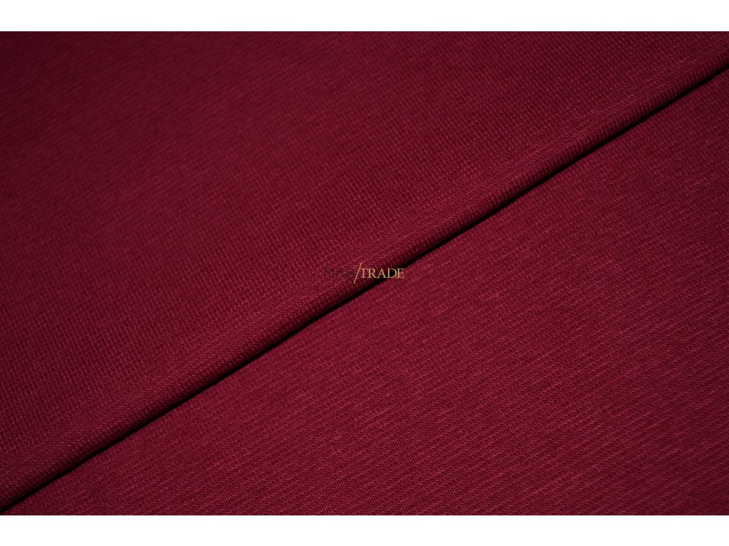 Bavlněný úplet - RIB 1x1 hladký Vínová Kód 6201-1201