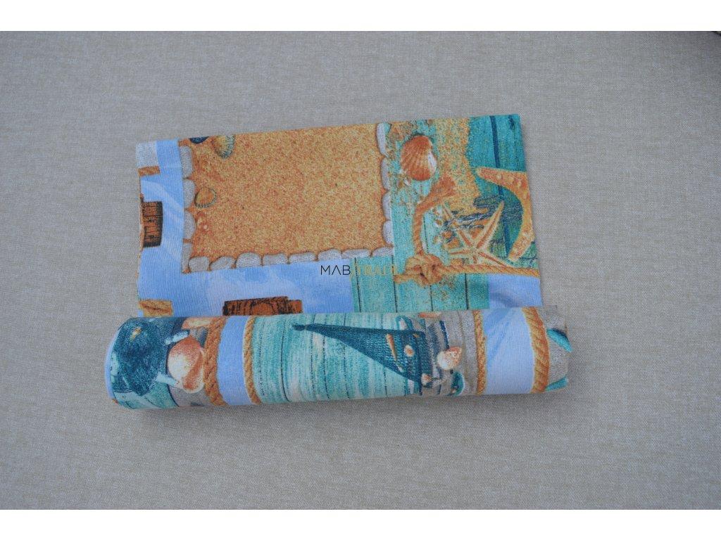 Bavlněné plátno Loneta motiv moře Kód 1081-1007